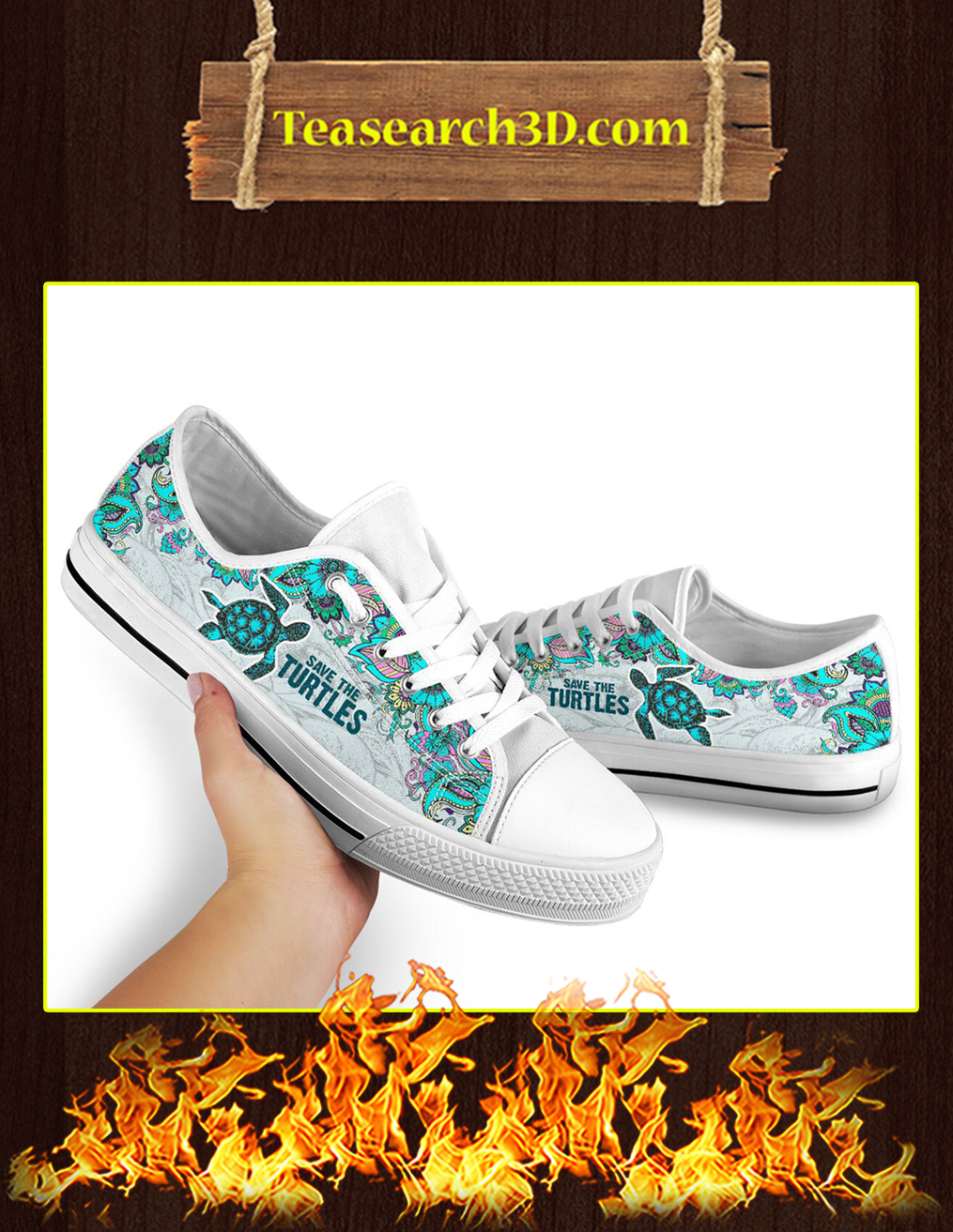 Save The Turtles Low Top - Pic 3