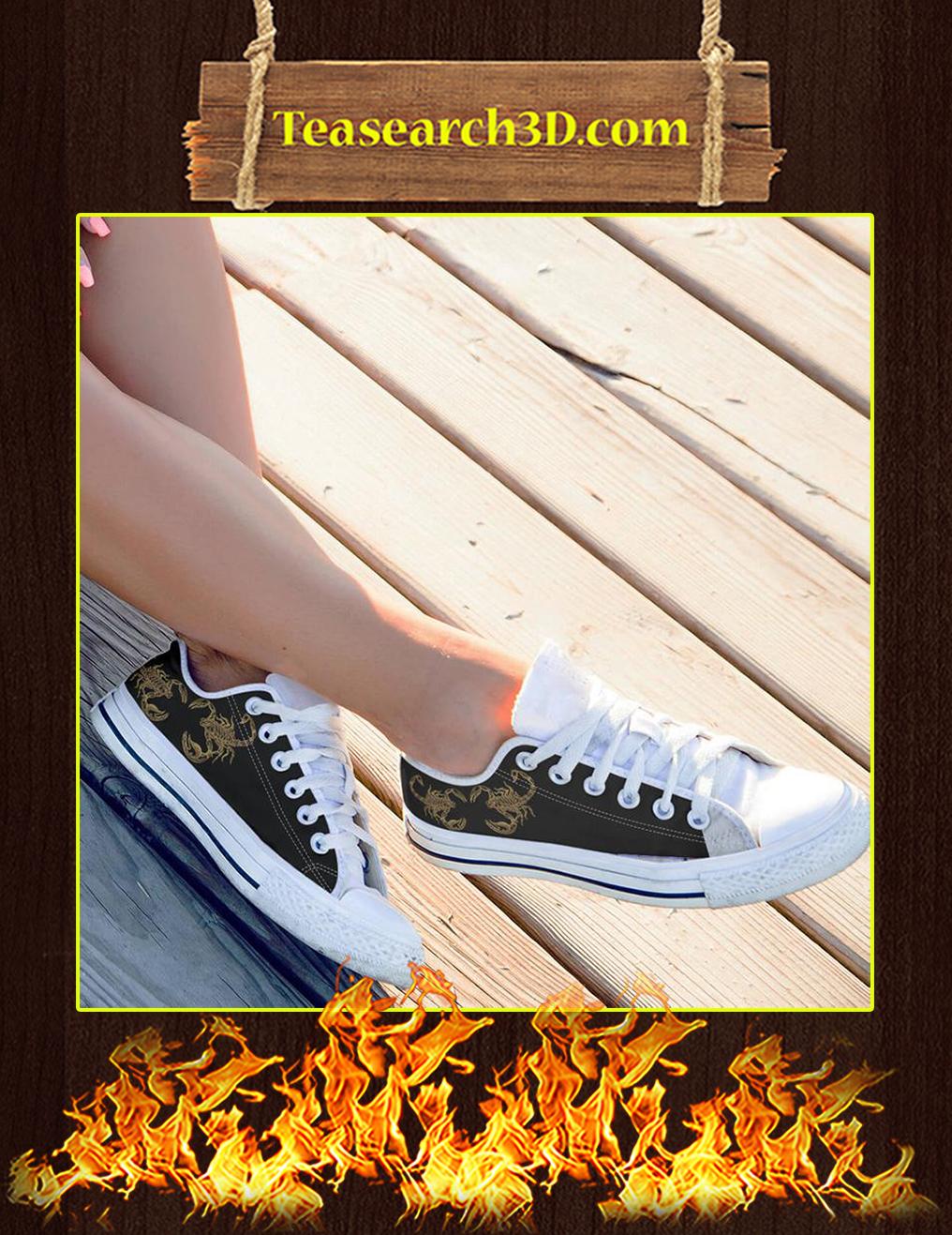 Scorpio Zodiac Low Top Shoes Pic 1