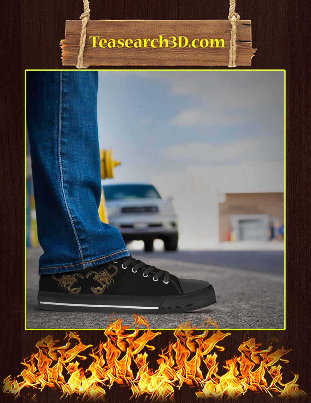 Scorpio Zodiac Low Top Shoes Pic 2