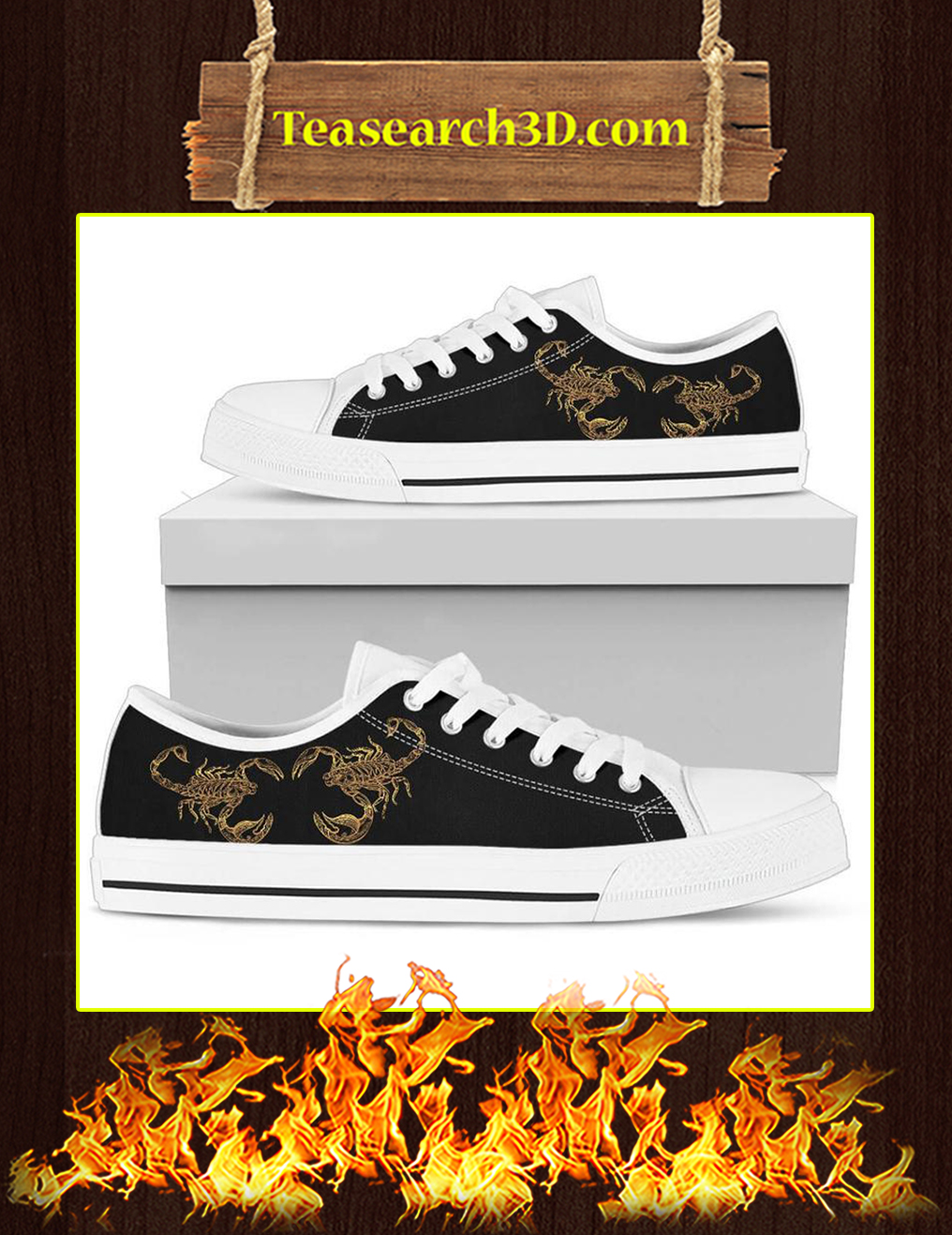 Scorpio Zodiac Low Top Shoes white