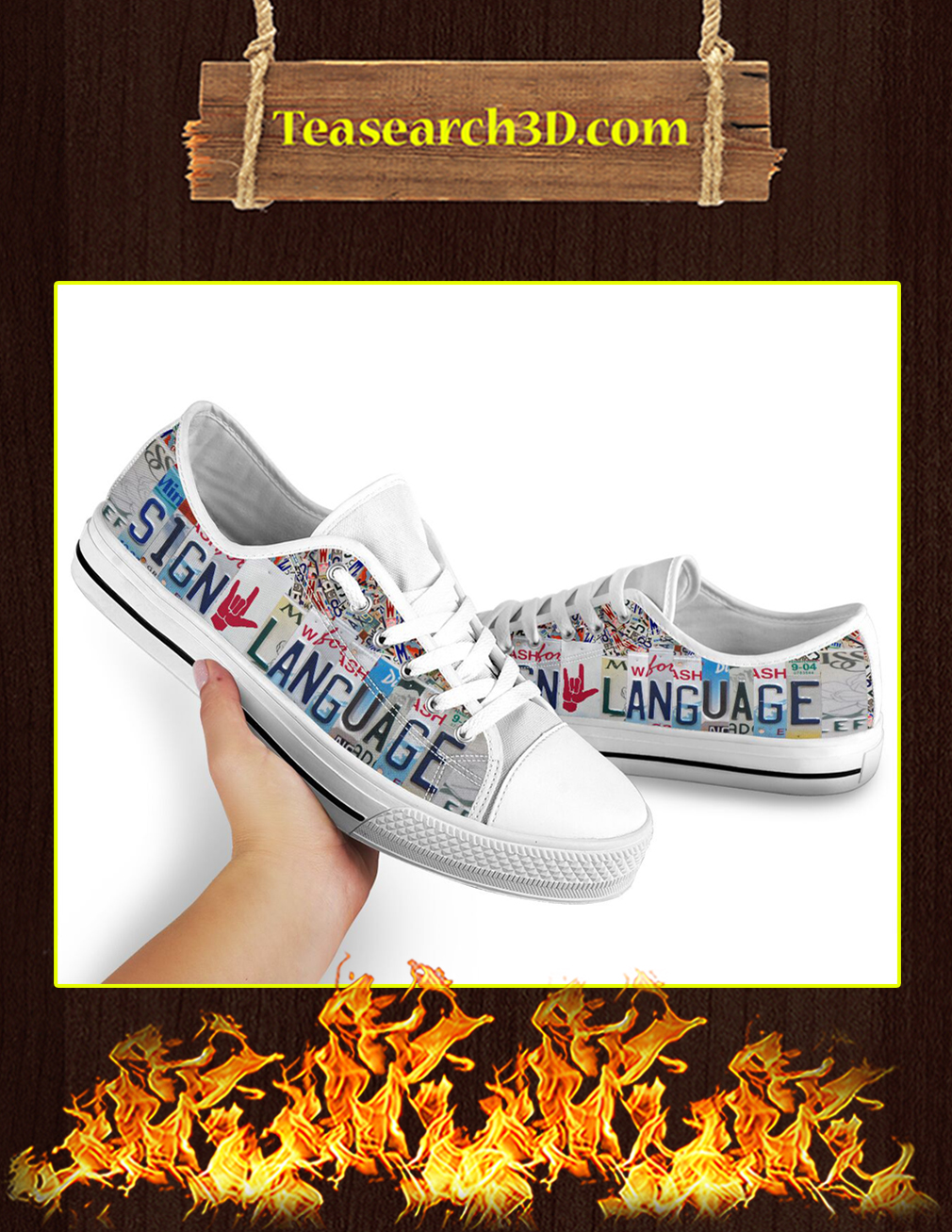 Sign Language Low Top Shoes pic 1
