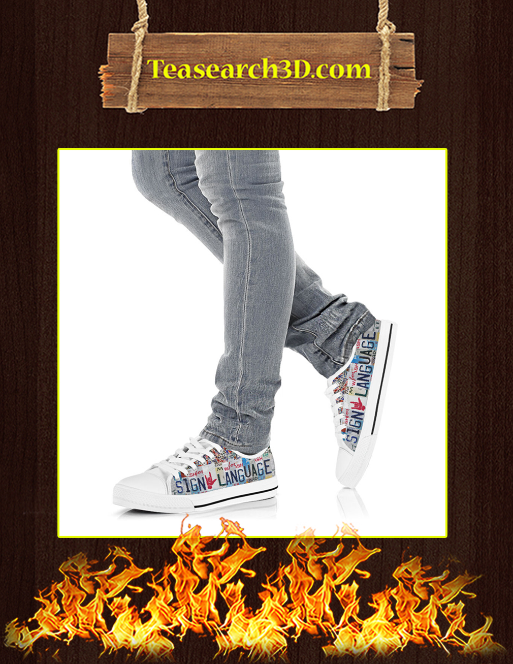 Sign Language Low Top Shoes pic 2