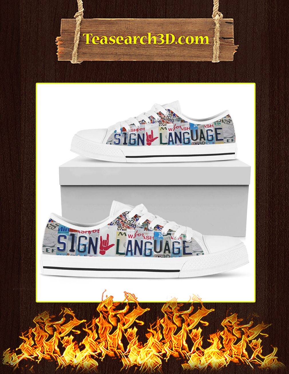 Sign Language Low Top Shoes pic 3
