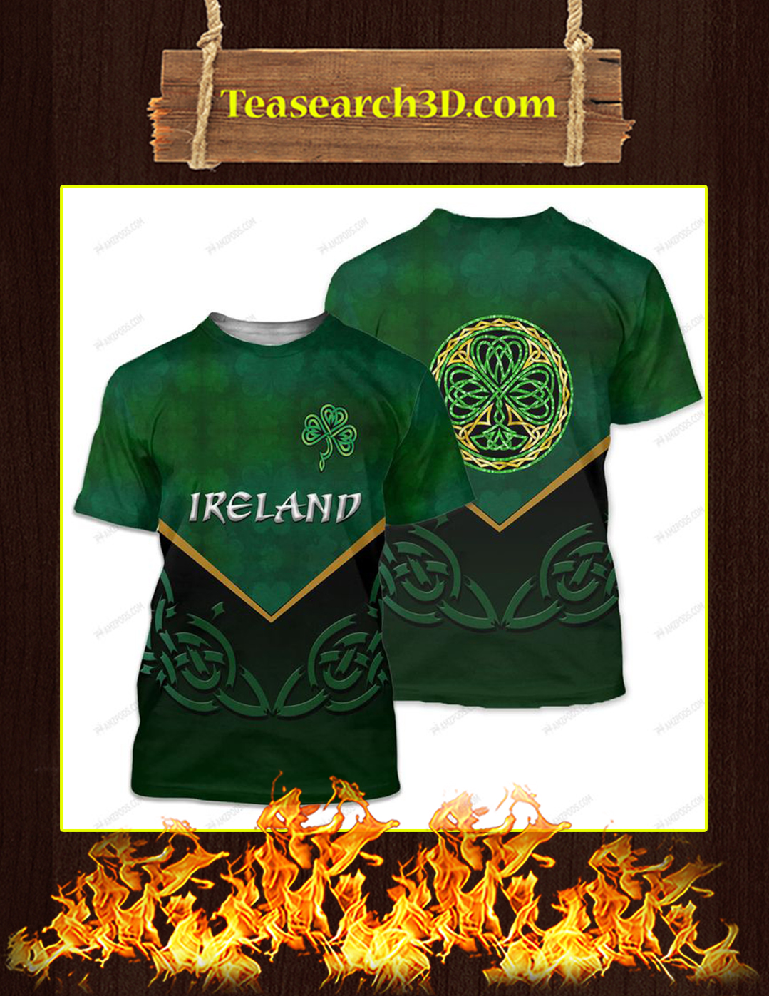 St Patrick's Day Ireland 3D All Over Printed T-shirt