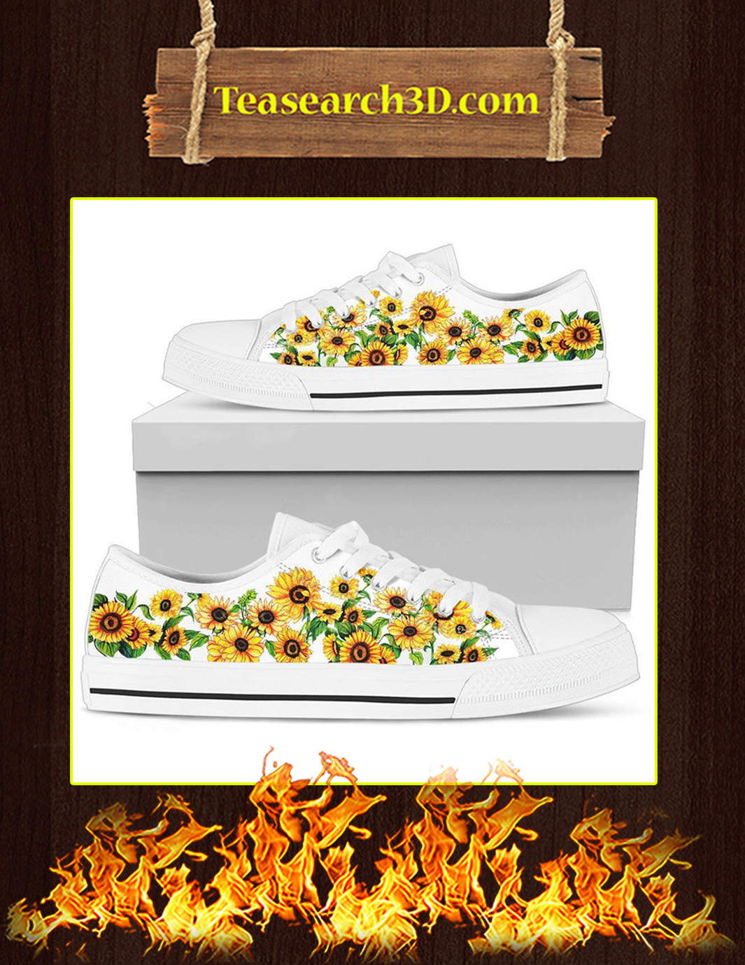 Sunflower Low Top Shoes Pic 2