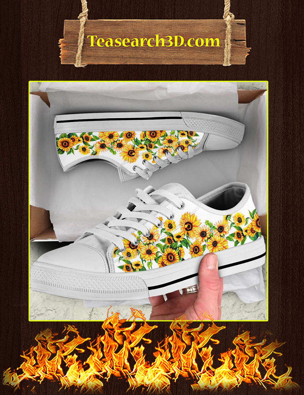 Sunflower Low Top Shoes Pic 3