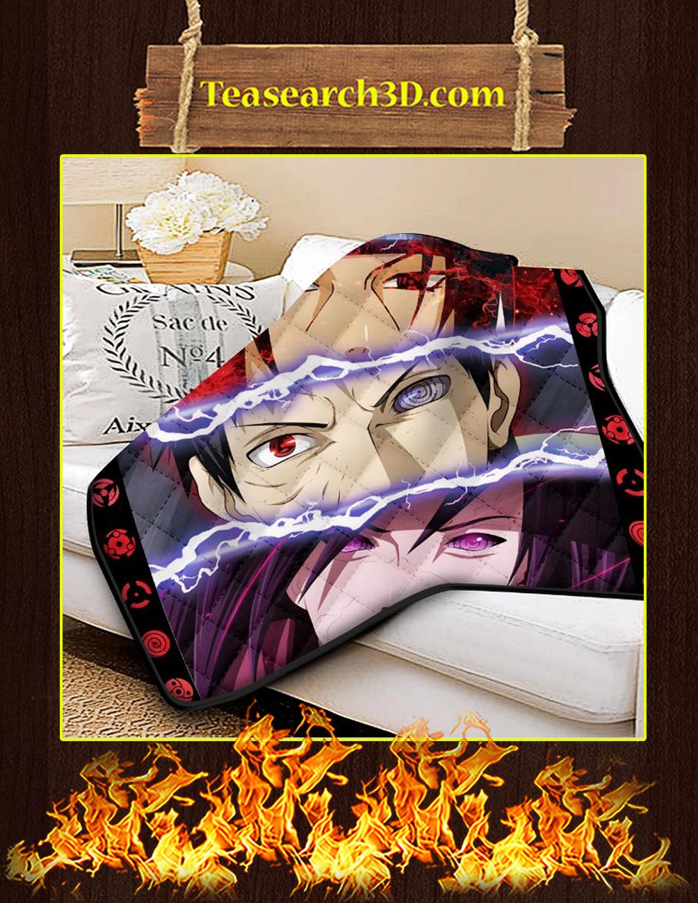 The Uchiha Quilt Blanket King