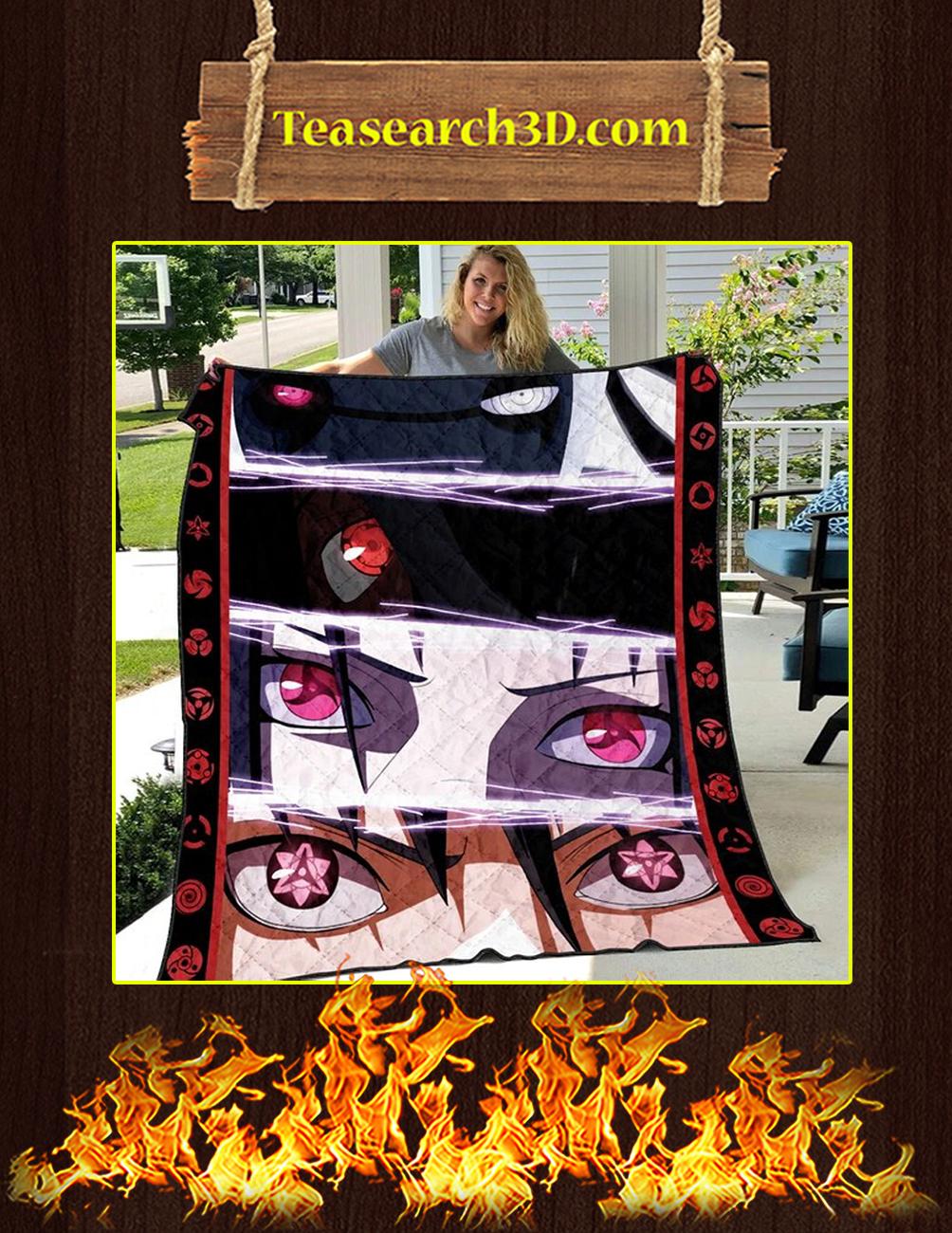 The Uchiha Quilt Blanket Twin