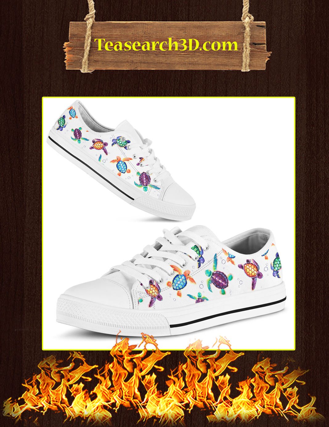 Turtle Lover Low Top Pic 1