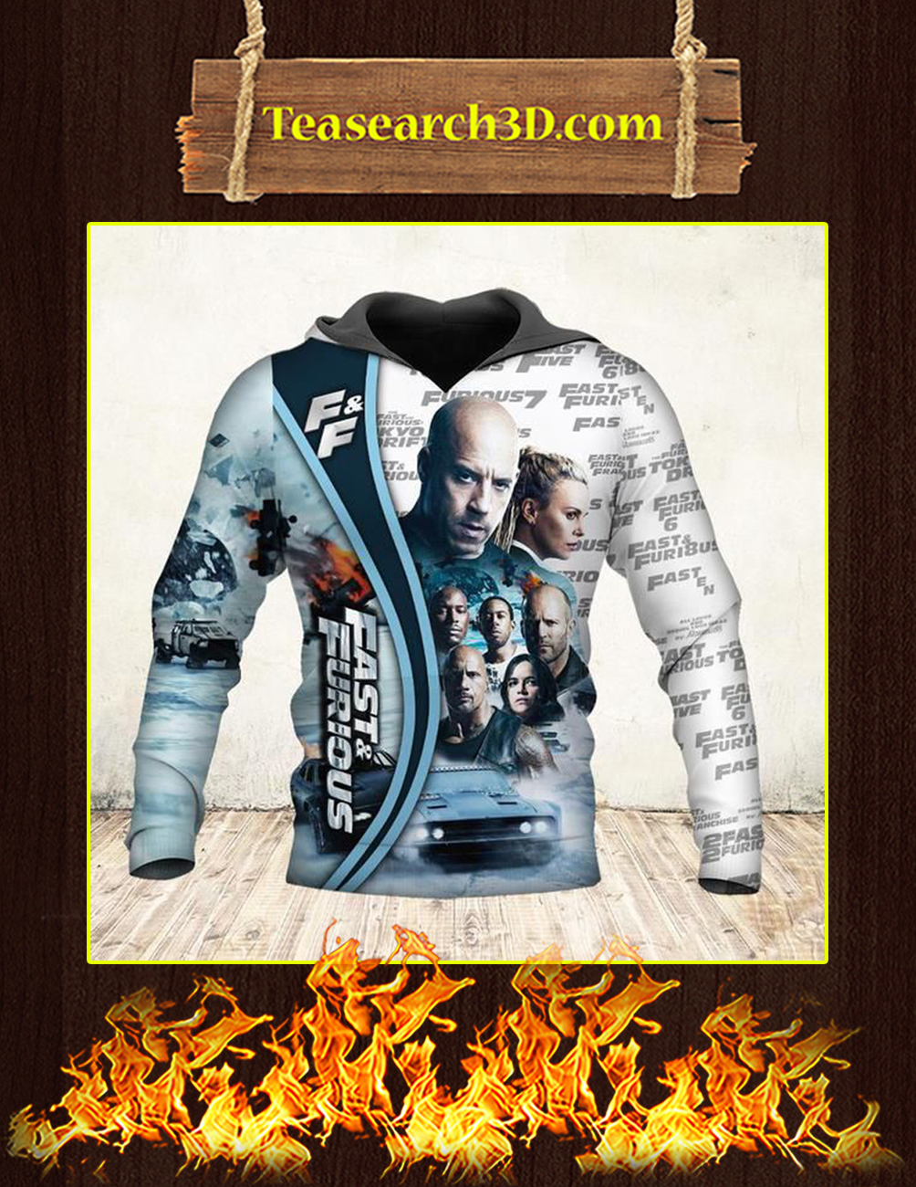 19 Years Of Fast And Furious Thank You For The Memories 3D hoodie front