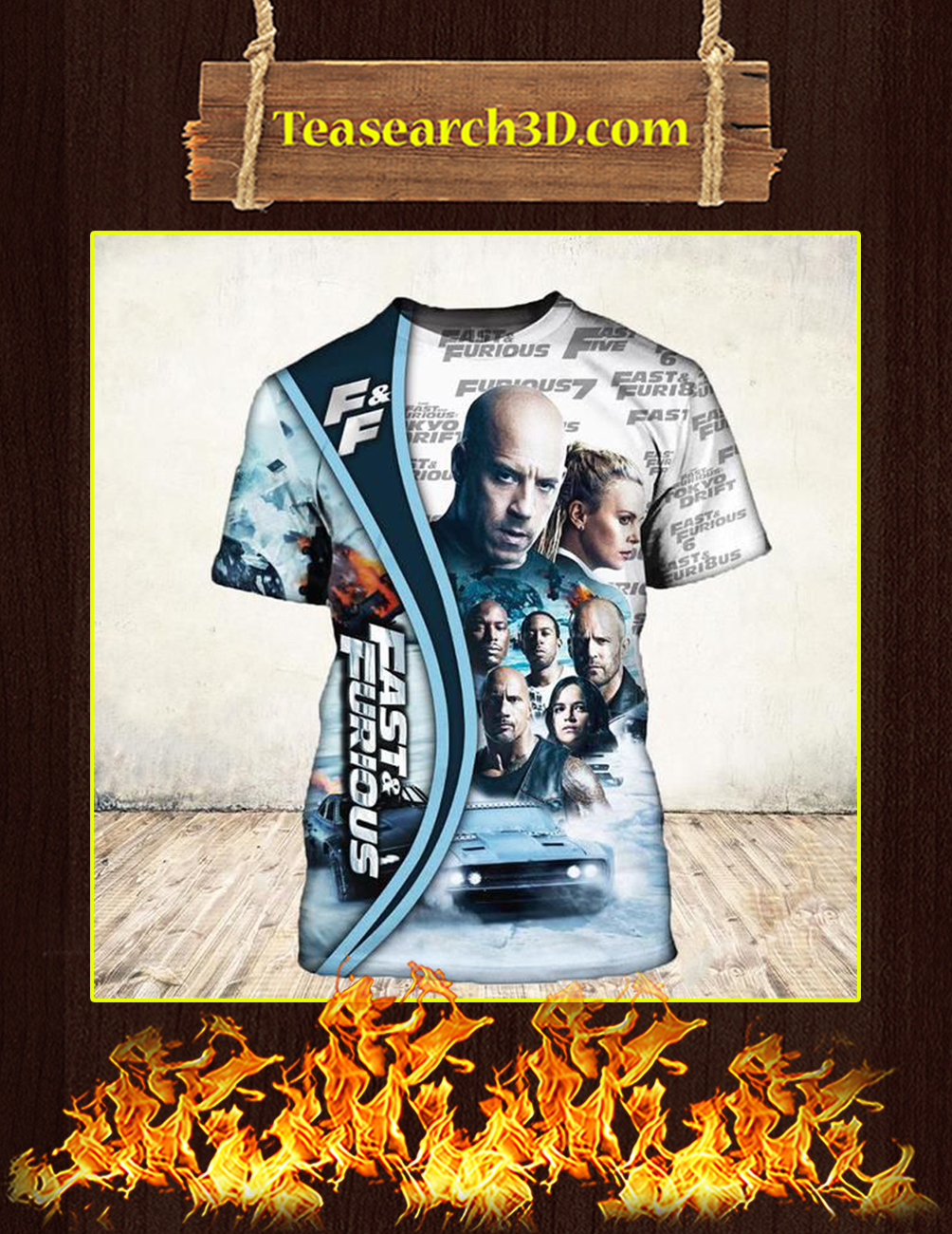 19 Years Of Fast And Furious Thank You For The Memories 3D shirt
