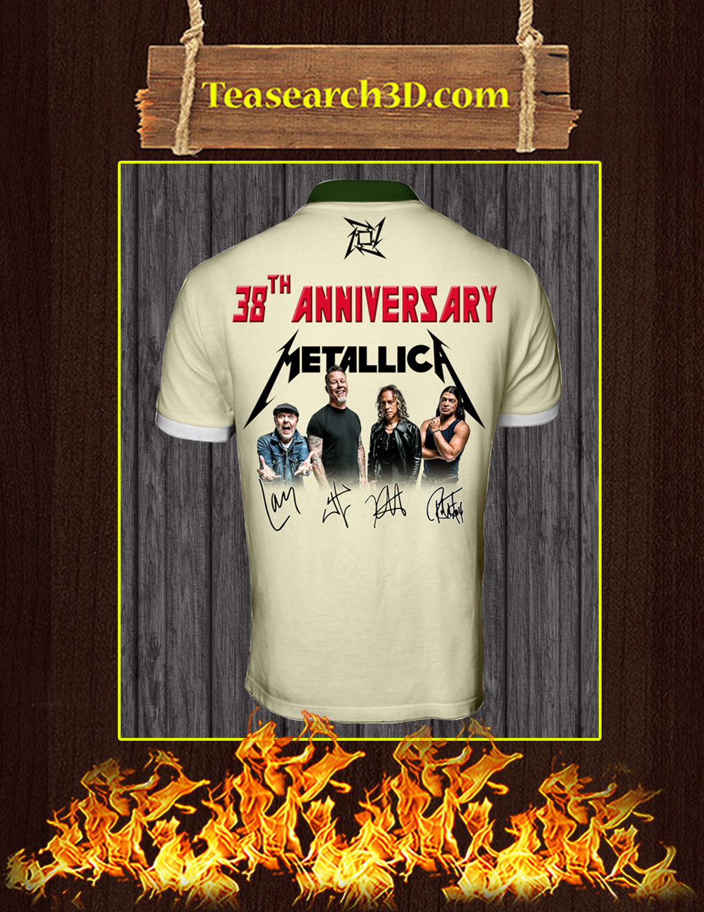 38th Anniversary Metallica Signature polo shirt back