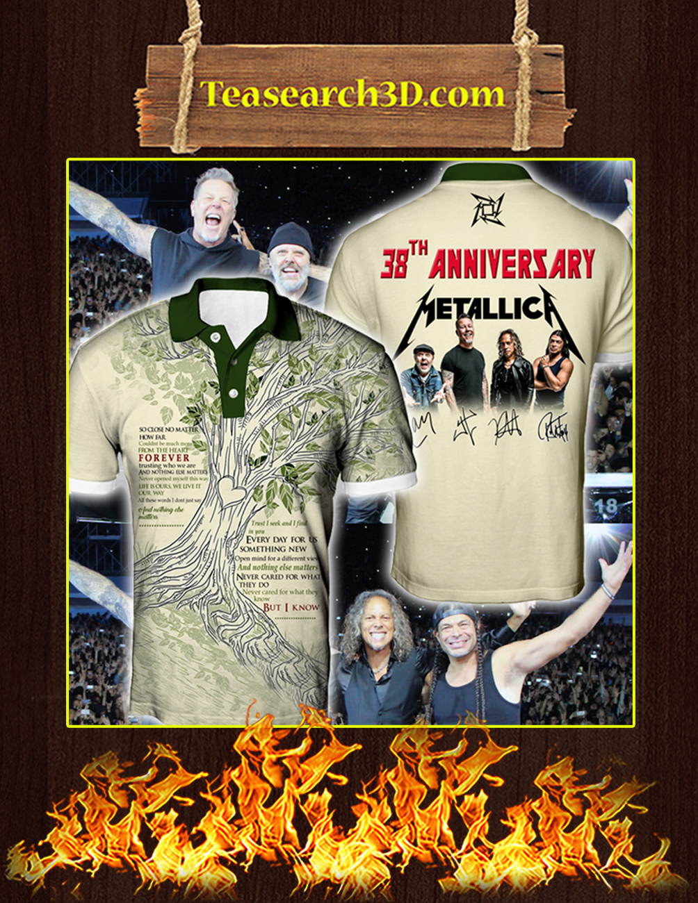 38th Anniversary Metallica Signature polo shirt