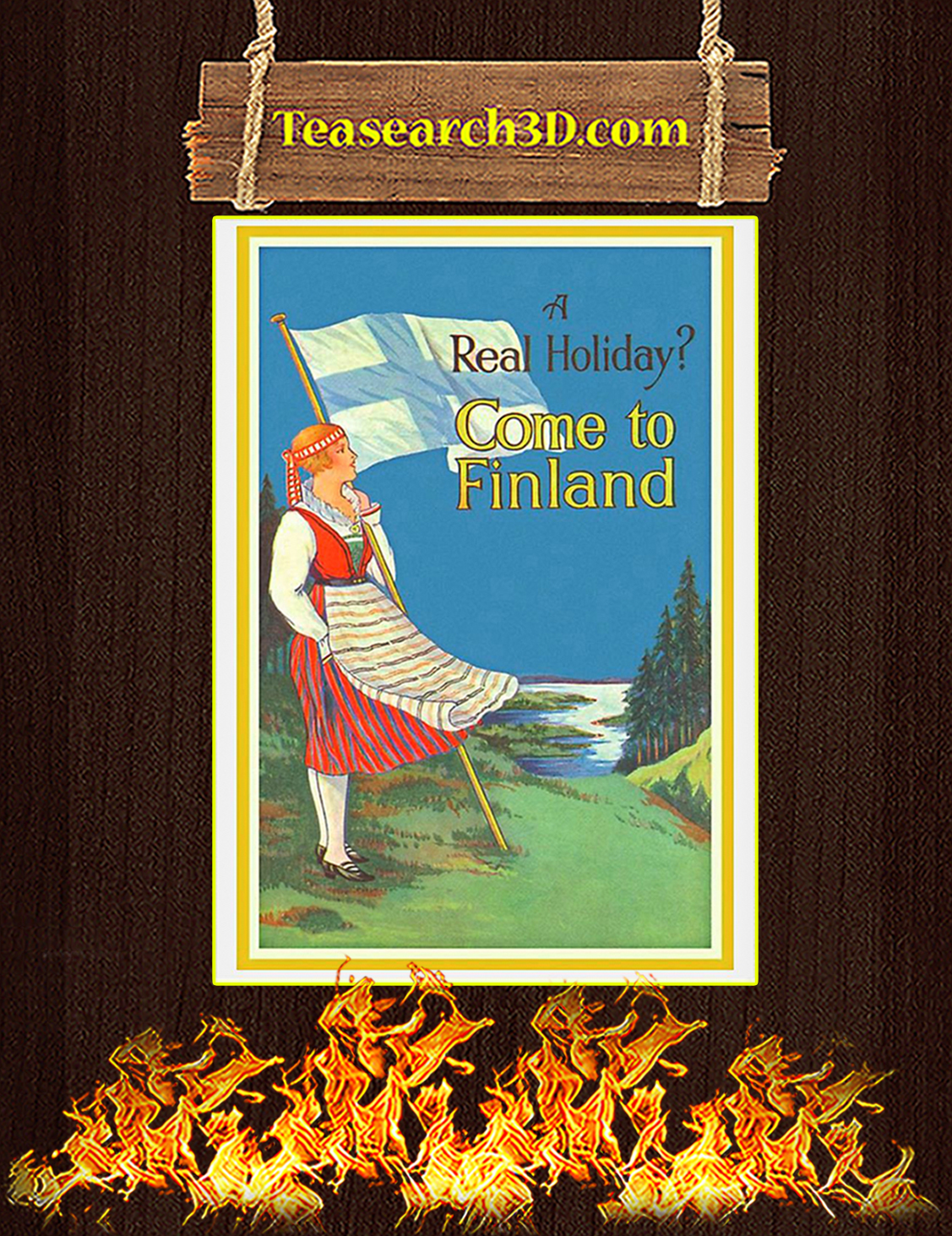 A Real Holiday Come To Finland Poster A3