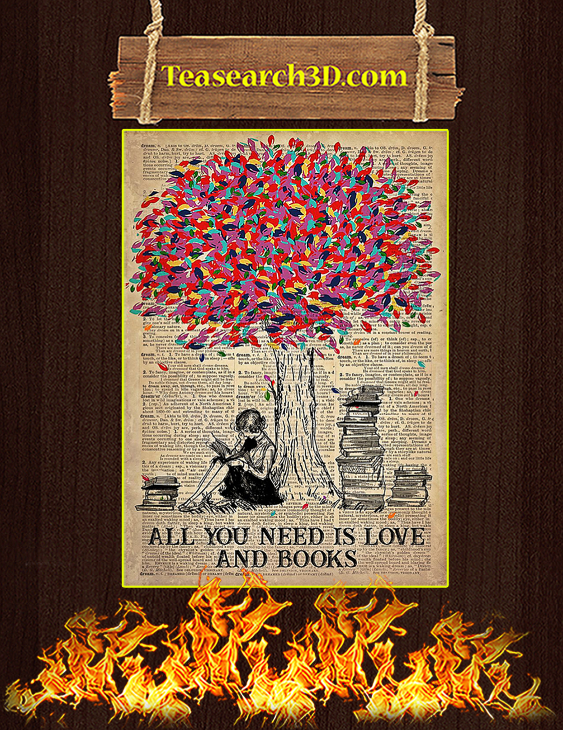 All You Need Is Love And Books Poster A3