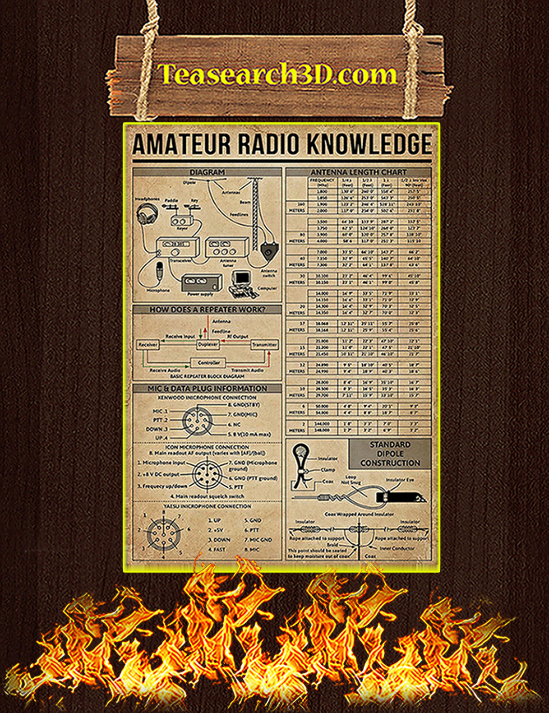 Amateur Radio Knowledge Poster A3