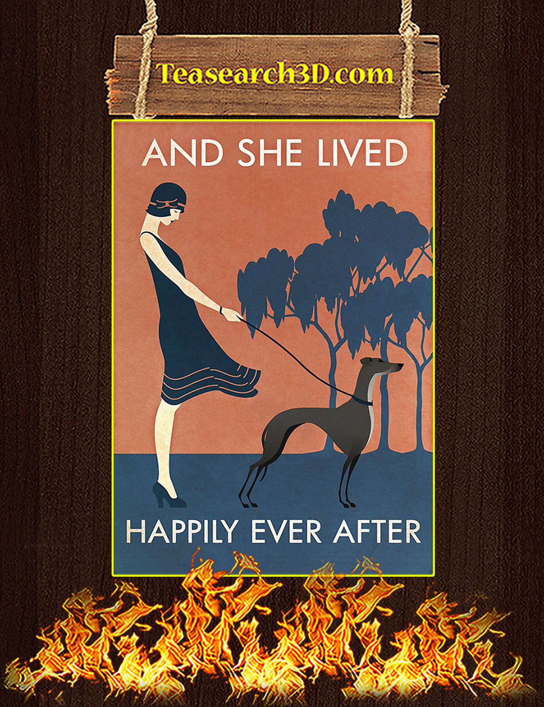 And She Lived Happily Ever After Greyhound Poster A2