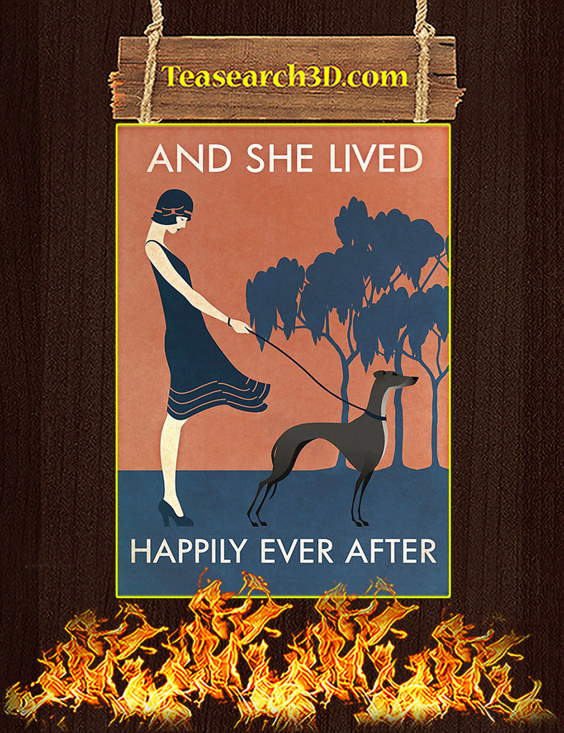 And She Lived Happily Ever After Greyhound Poster A3