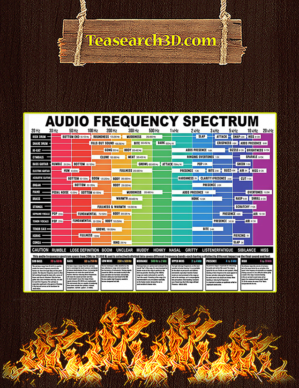 Audio Frequency Spectrum Poster A1
