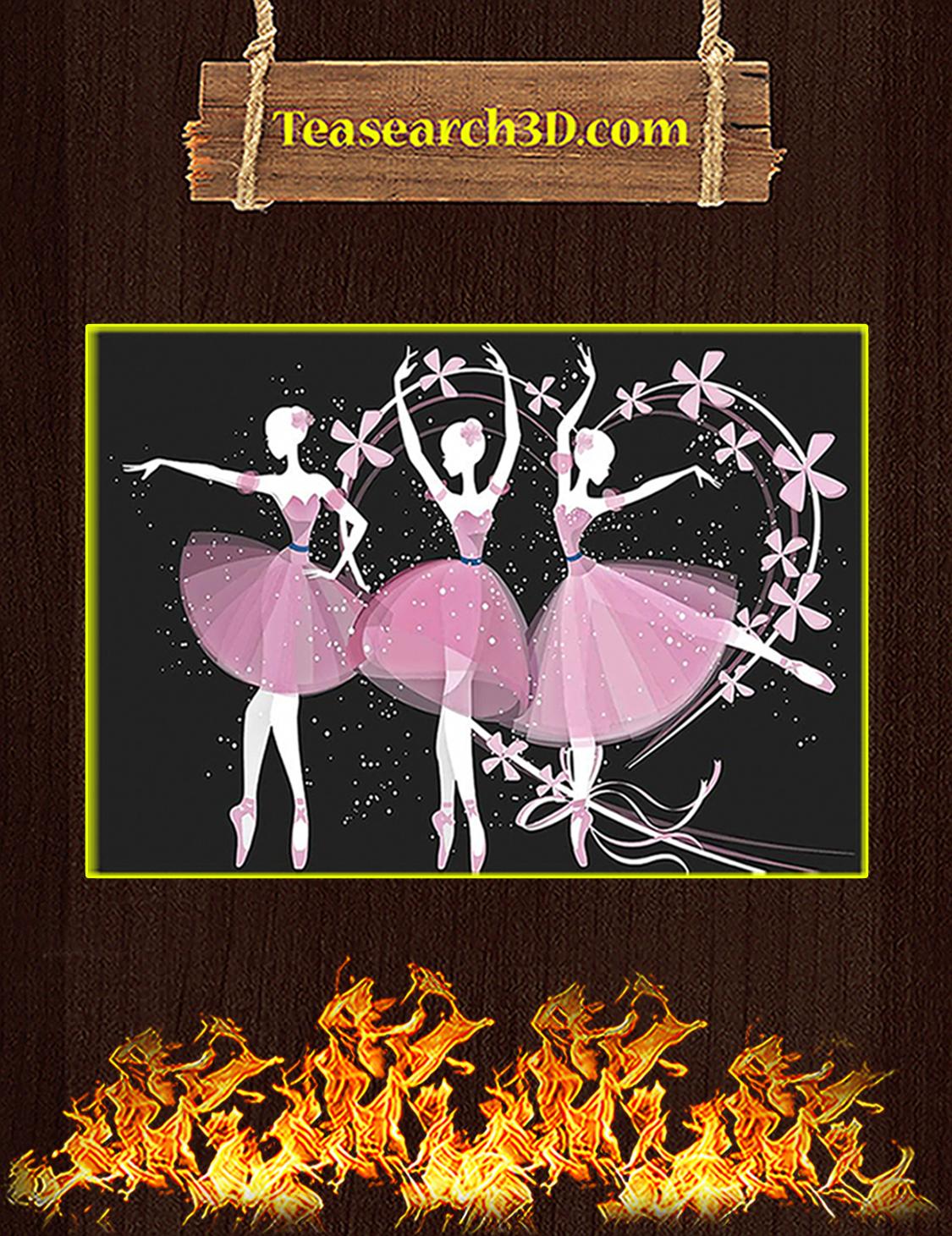 Ballet Girls Poster A3
