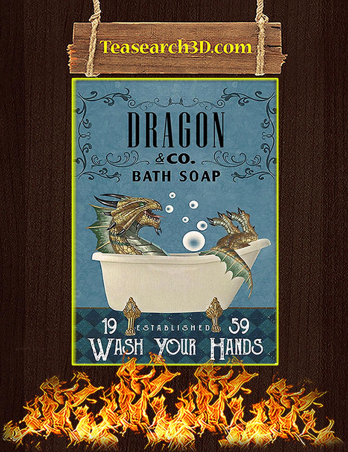 Bath Soap Company Dragon Poster A3