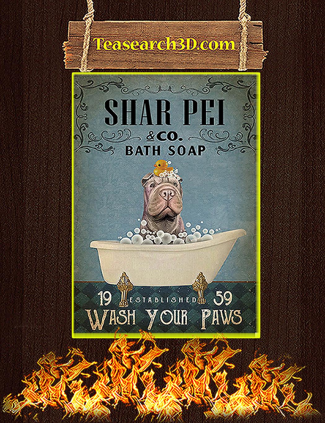 Bath Soap Company Shar Pei Poster A1