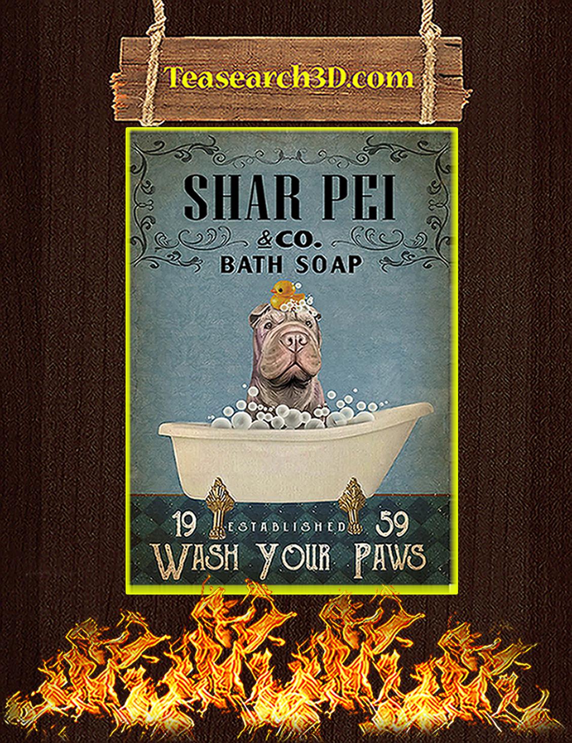 Bath Soap Company Shar Pei Poster A3