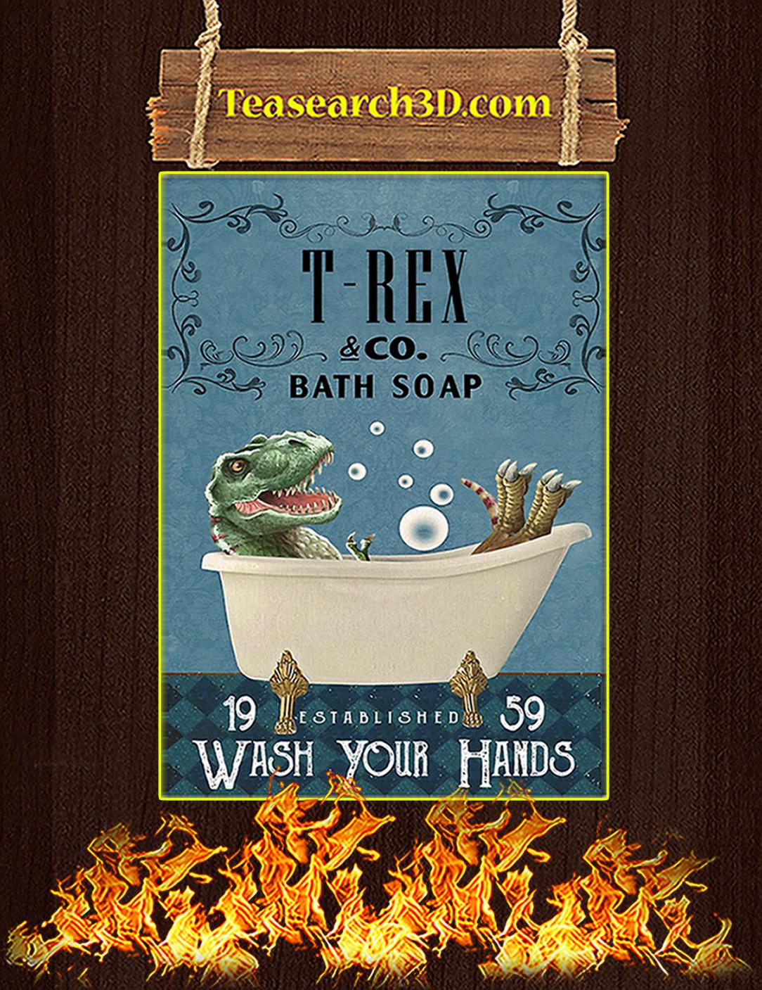 Bath Soap Company T-Rex Poster A2