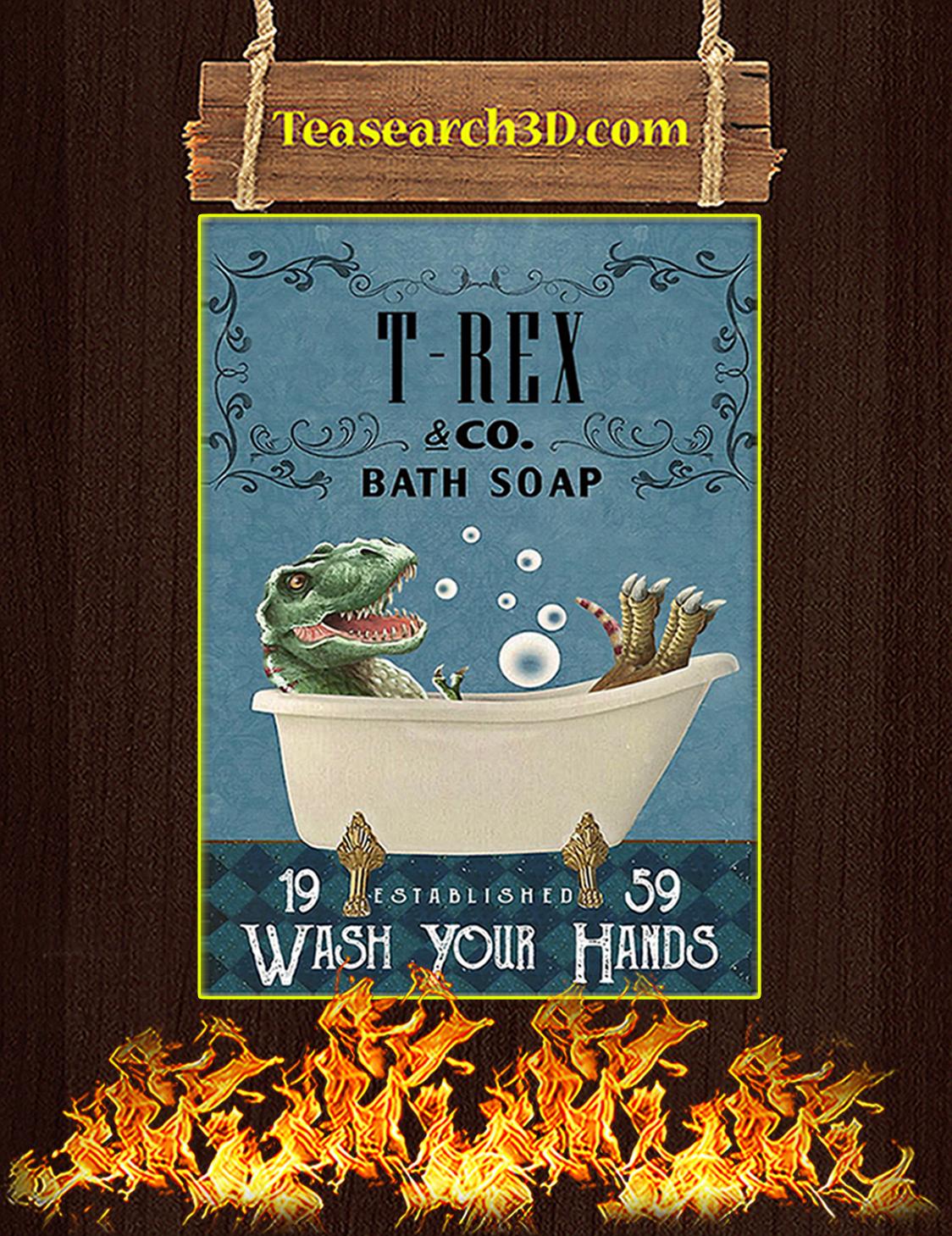 Bath Soap Company T-Rex Poster A3