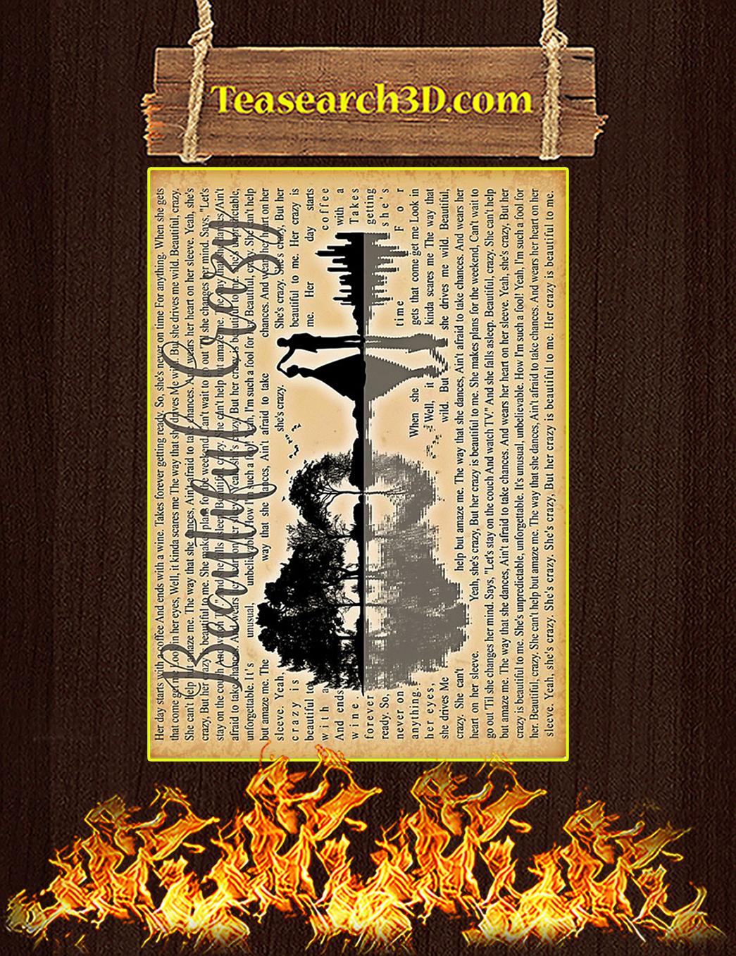 Beautiful Crazy Guitar Poster A1