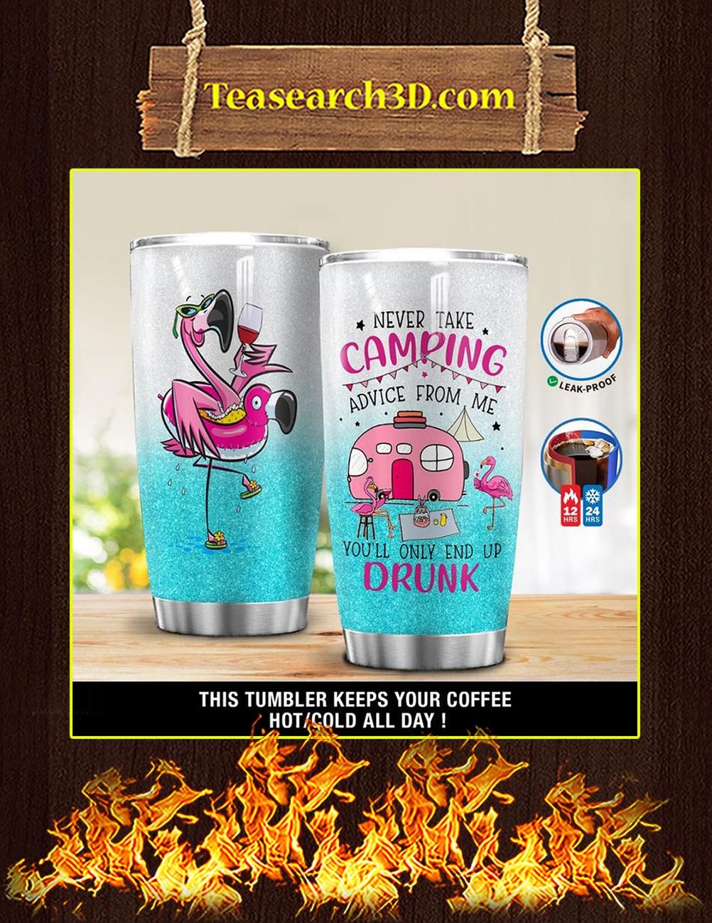 Camping Flamingo Tumbler