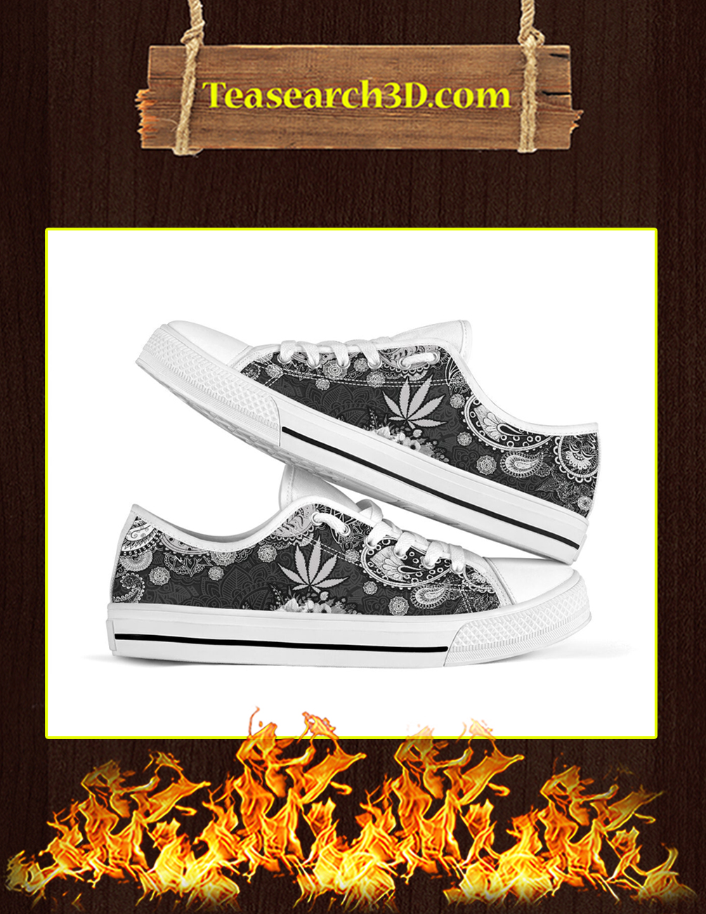 Cannabis Weed Low Top Shoes pic 1