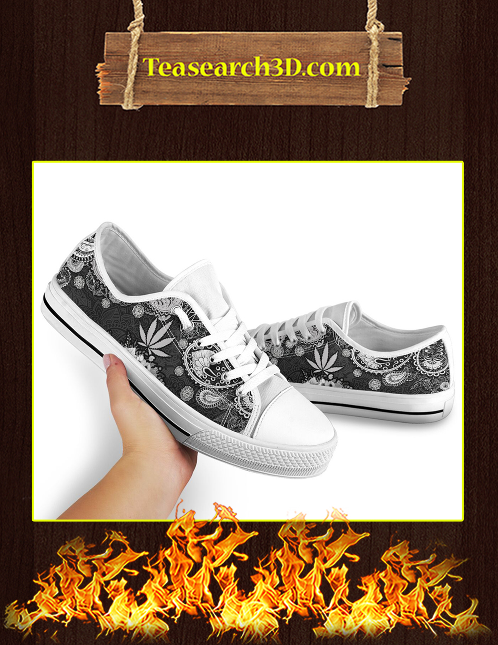 Cannabis Weed Low Top Shoes pic 2