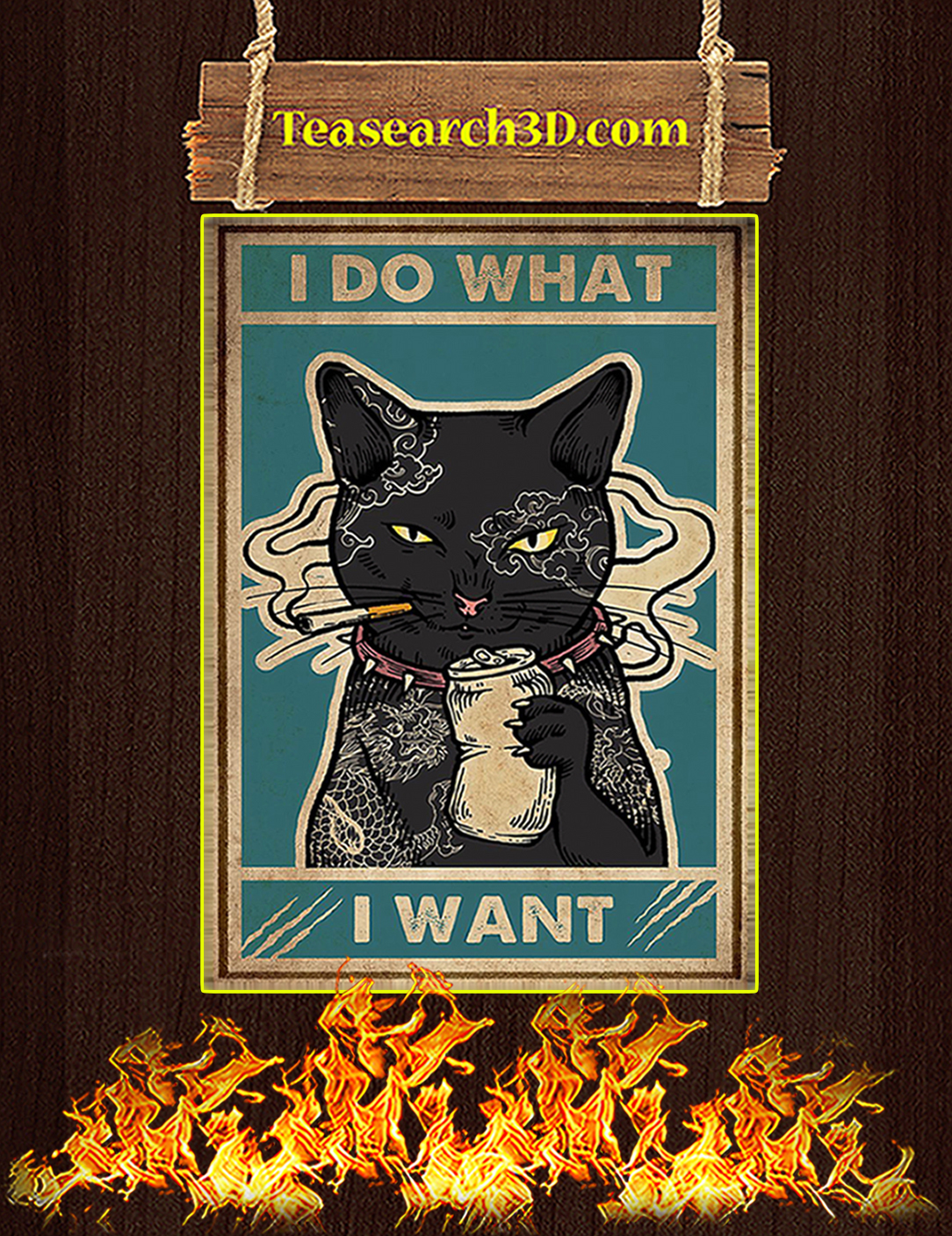 Cat I do what I want poster A2