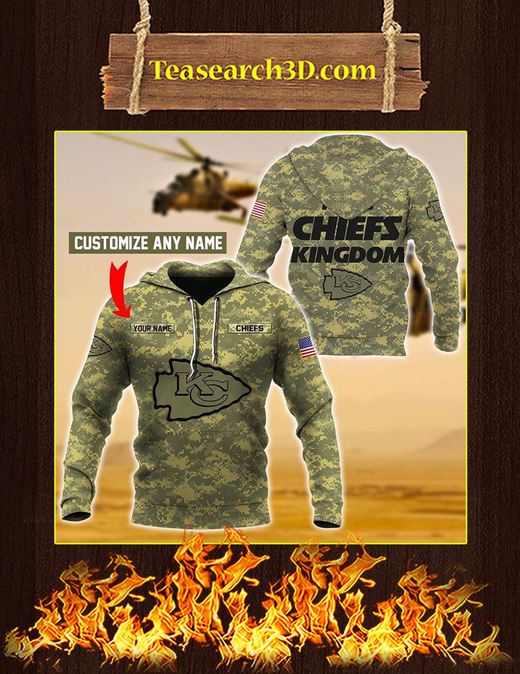 Chiefs Kingdom Custom Name 3d hoodie size M