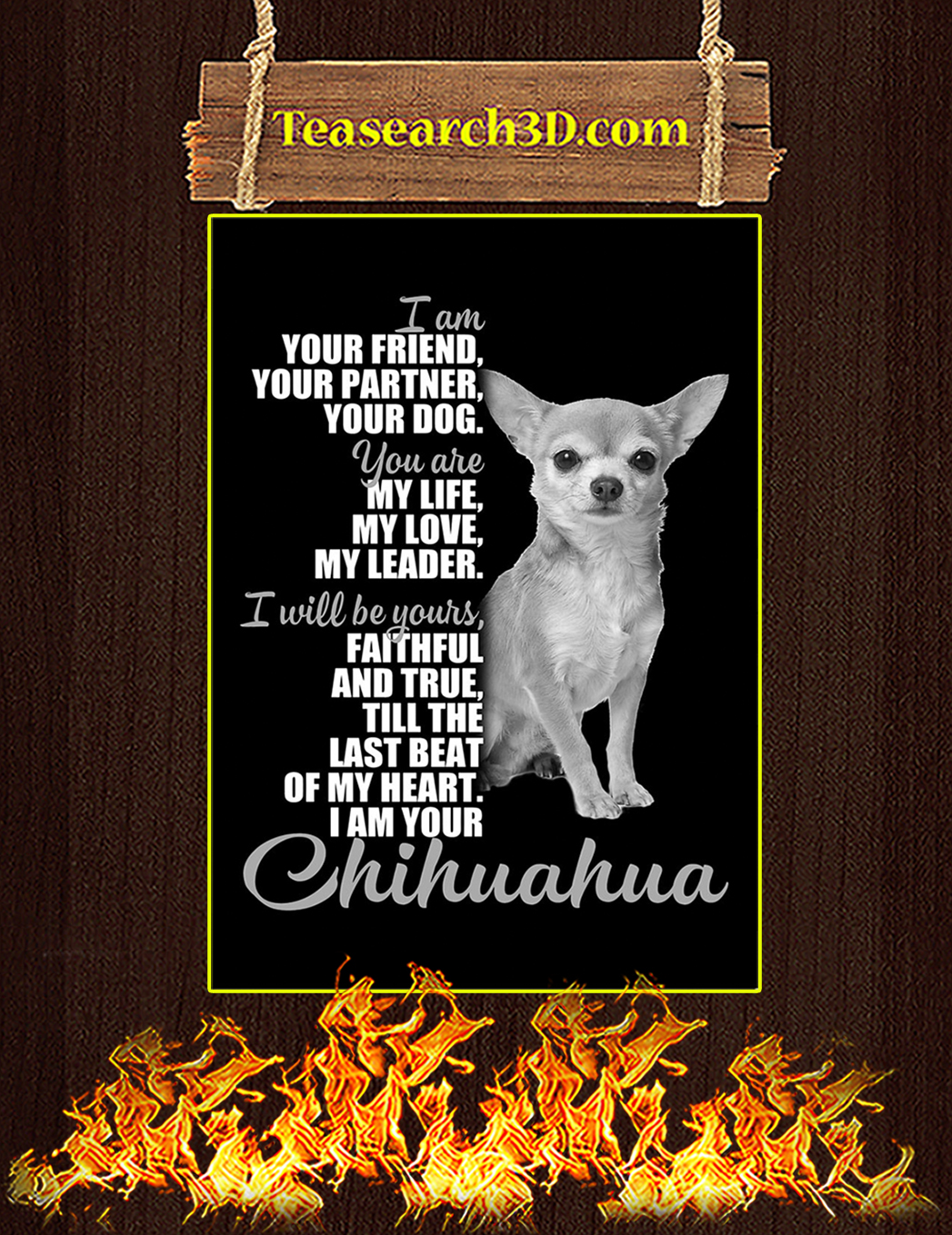Chihuahua I'm Your Friend Poster A1