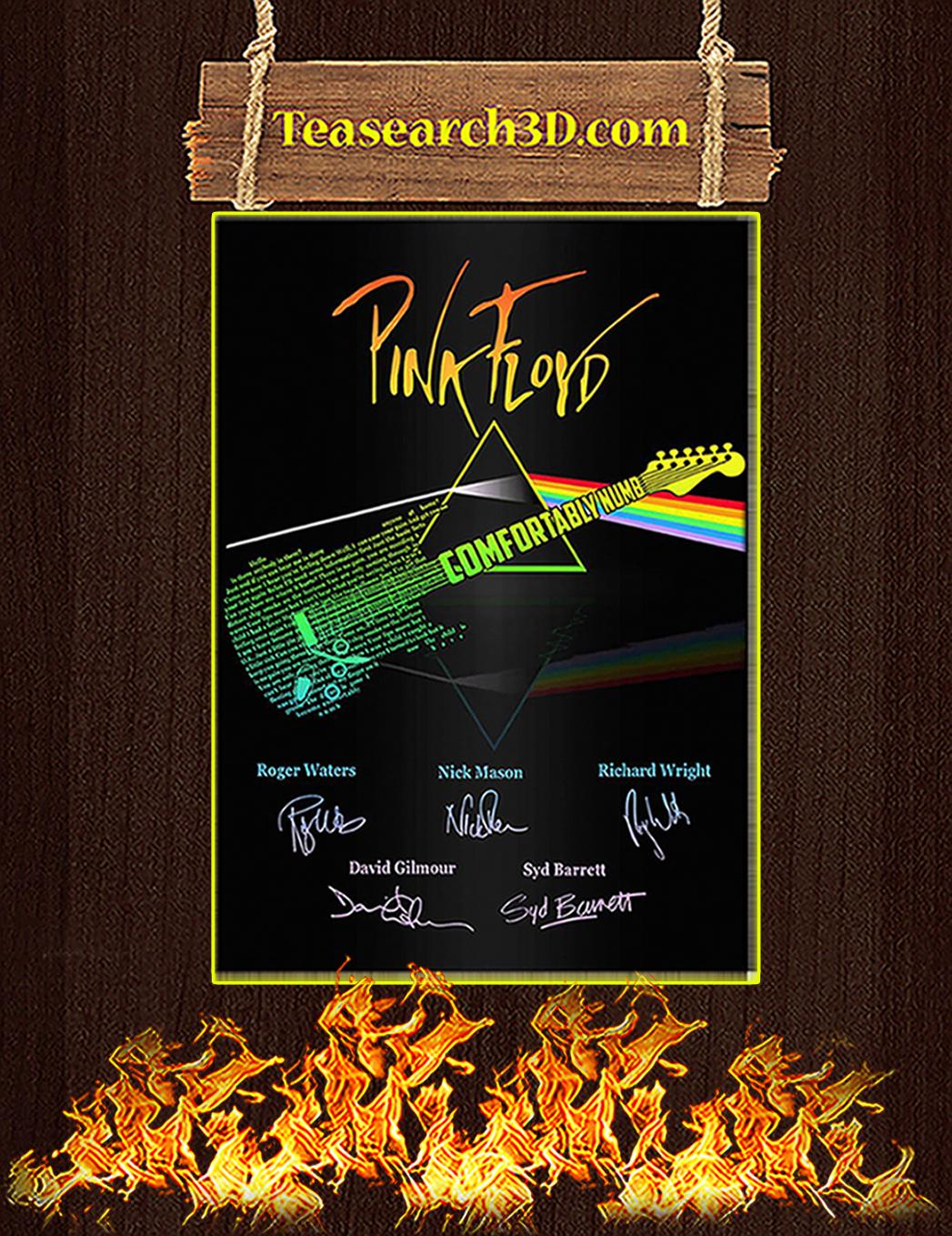 Comfortably Numb Guitar Pink Floyd Signature Poster A1