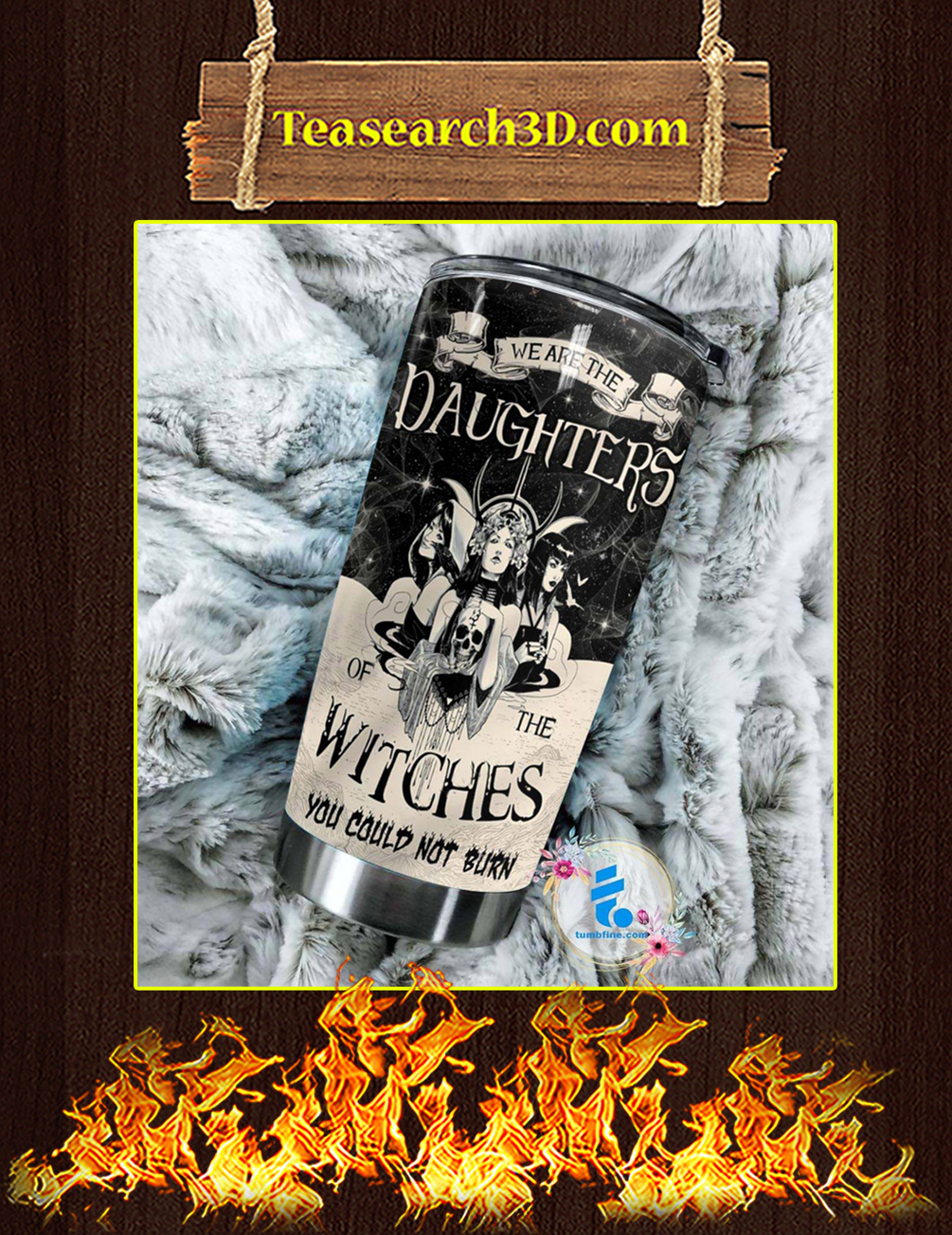 Daghters Of The Witches Personalized Custom Name Tumbler Pic 1