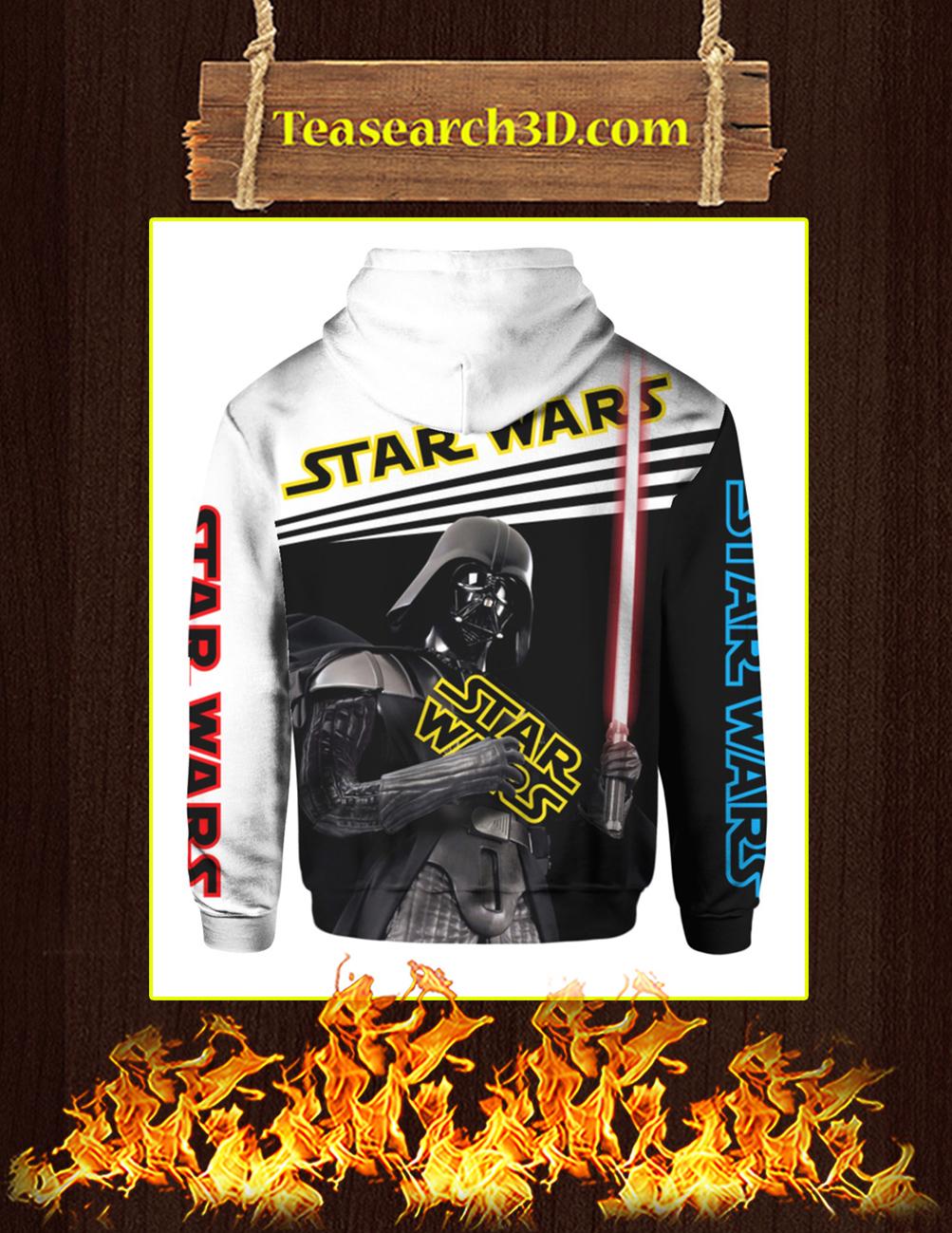 Darth Vader Hug Star Wars 3d hoodie back