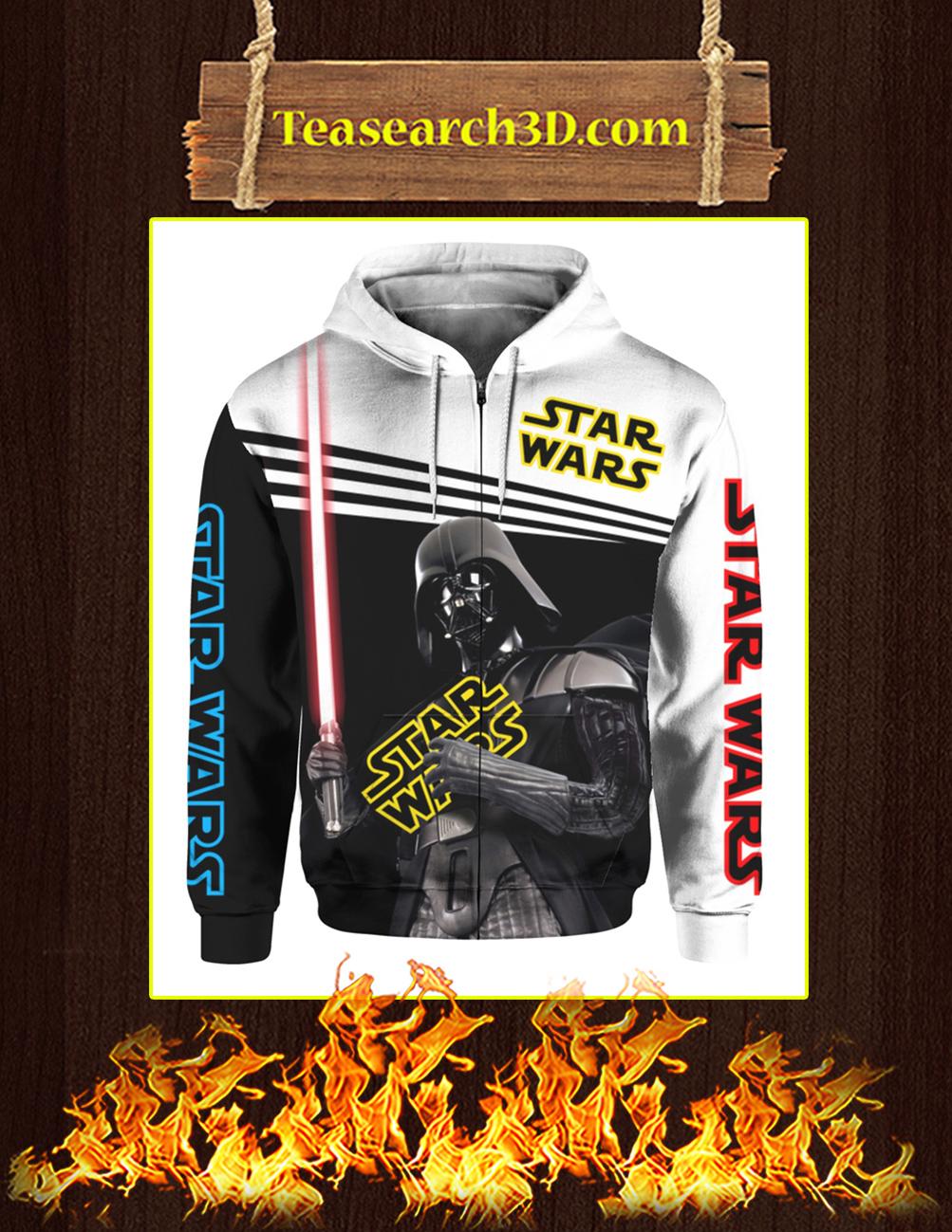 Darth Vader Hug Star Wars 3d zip hoodie