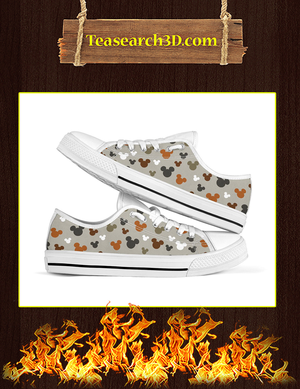 Disney Mickey Low Top Shoes pic 1
