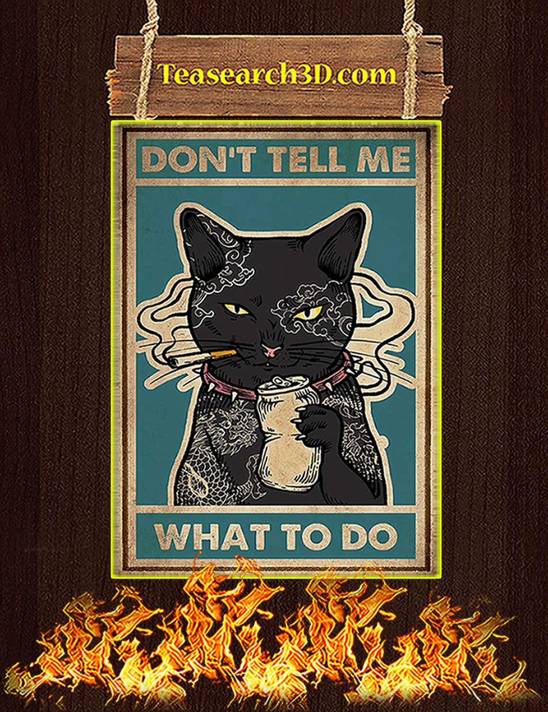 Don't tell me what to do Cat Poster A3
