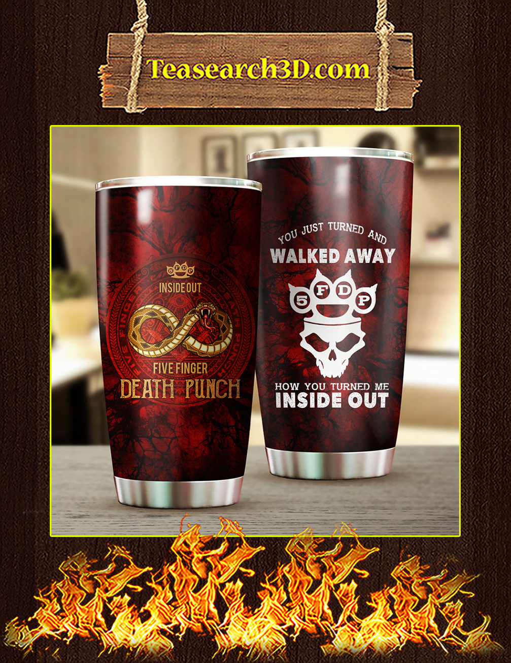 Five Finger Death Punch Stainless Steel Tumbler 20oz