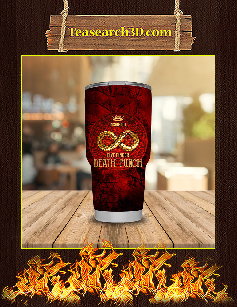 Five Finger Death Punch Stainless Steel Tumbler 30oz