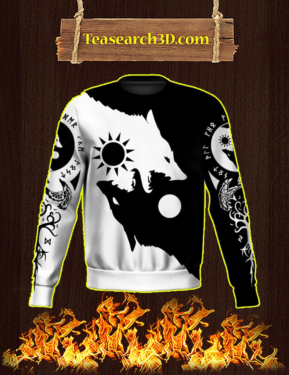Geri and Freki 3d All Over Printed Sweatshirt