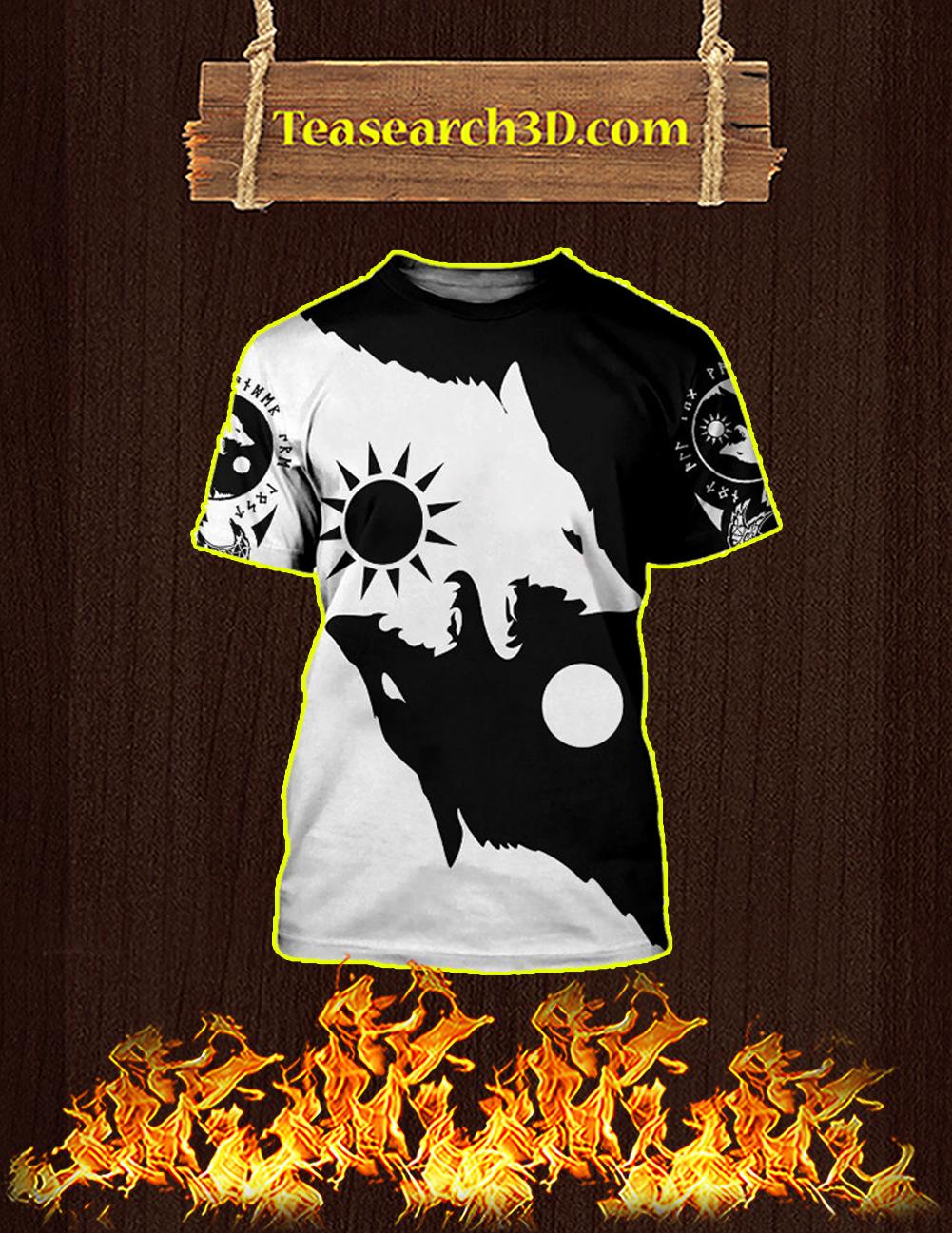Geri and Freki 3d All Over Printed T-shirt