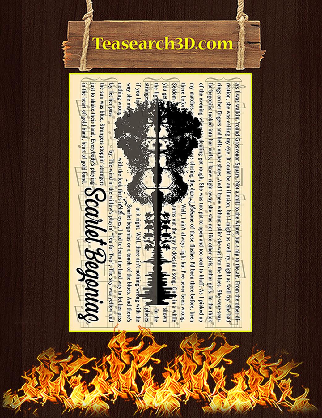 Grateful Dead Scarlet Begonias Poster A1