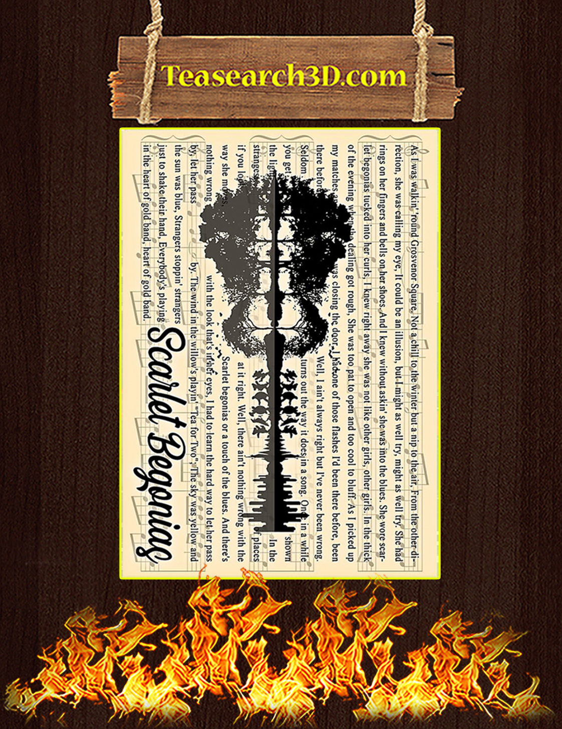 Grateful Dead Scarlet Begonias Poster A3