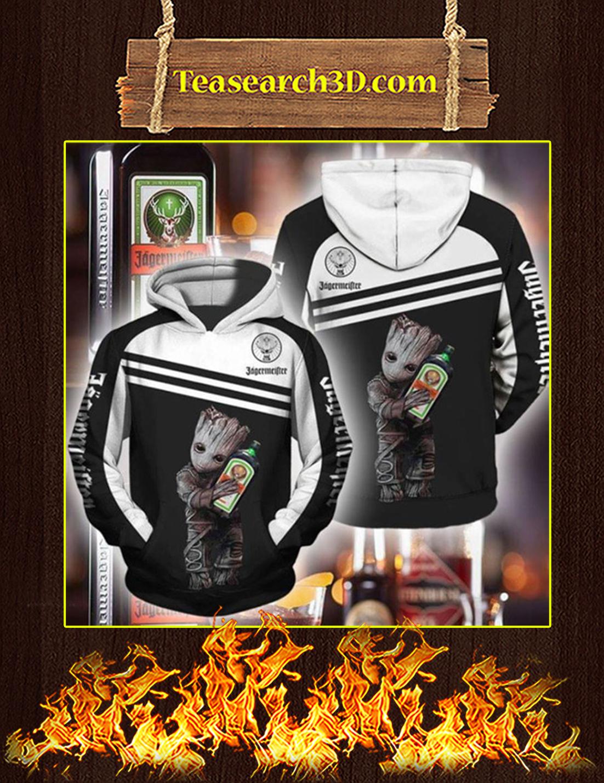 Groot Jagermeister 3d hoodie Size L