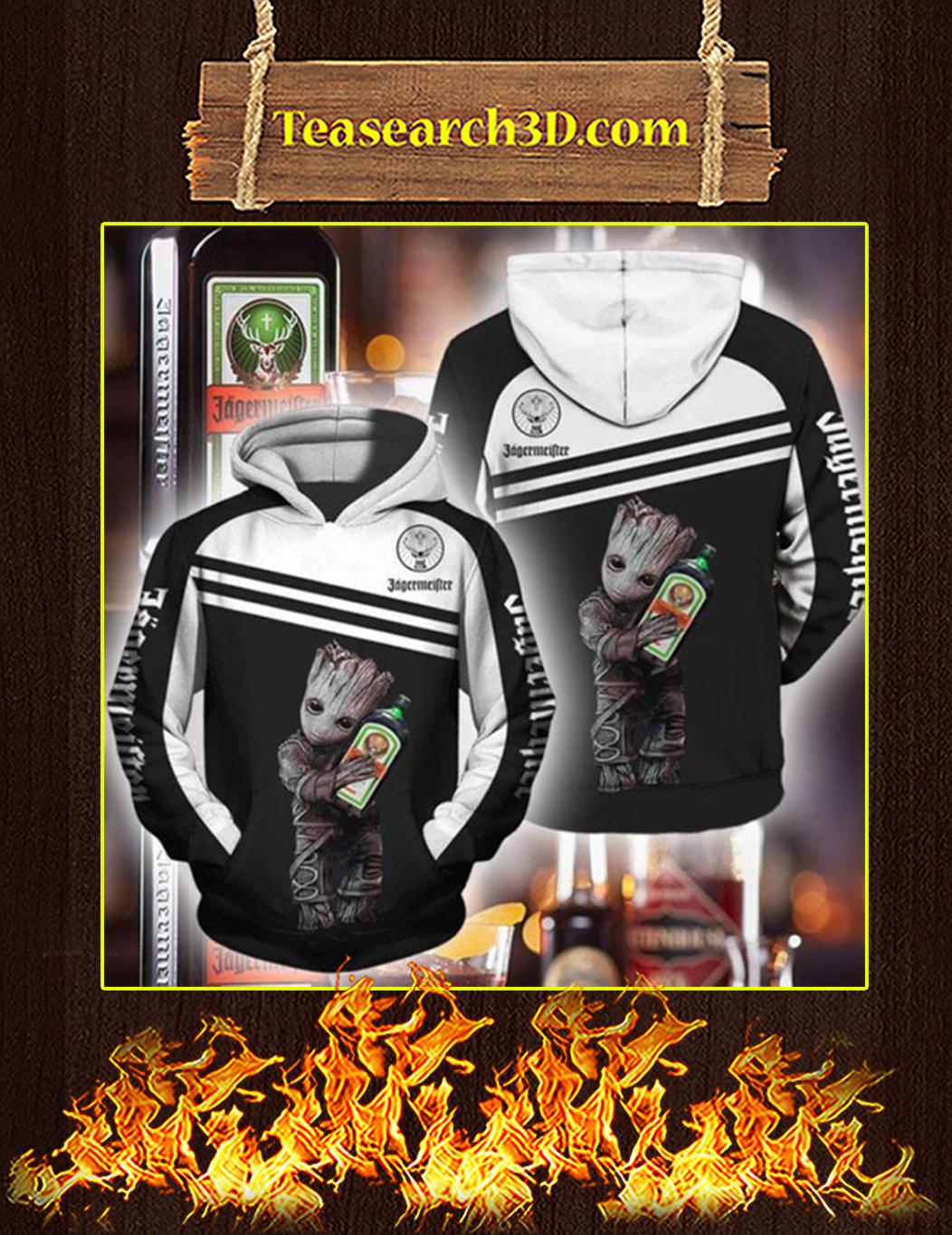 Groot Jagermeister 3d hoodie Size M